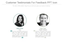 Customer Testimonials For Feedback Ppt Icon