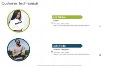 Customer Testimonials Organizational Strategies And Promotion Techniques Summary PDF