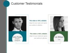 Customer Testimonials Ppt PowerPoint Presentation Example