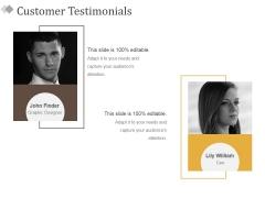 Customer Testimonials Ppt PowerPoint Presentation Model File Formats