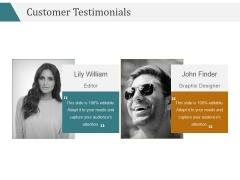 Customer Testimonials Ppt PowerPoint Presentation Visuals
