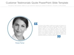 Customer Testimonials Quote Powerpoint Slide Template