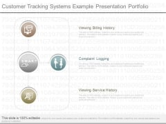 Customer Tracking Systems Example Presentation Portfolio