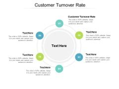 Customer Turnover Rate Ppt PowerPoint Presentation Pictures Diagrams Cpb