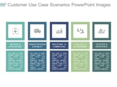 Customer Use Case Scenarios Powerpoint Images