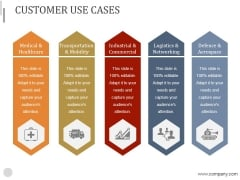 Customer Use Cases Ppt PowerPoint Presentation Designs