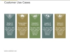 Customer Use Cases Ppt PowerPoint Presentation Diagrams
