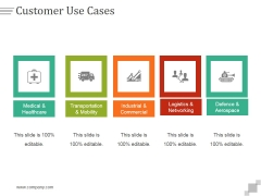 Customer Use Cases Ppt PowerPoint Presentation Tips