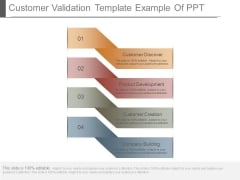 Customer Validation Template Example Of Ppt