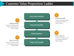 Customer Value Proposition Ladder Ppt Powerpoint Presentation Pictures Icon