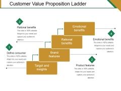 Customer Value Proposition Ladder Ppt PowerPoint Presentation Slides Influencers