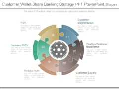 Customer Wallet Share Banking Strategy Ppt Powerpoint Shapes