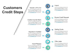 Customers Credit Steps Ppt PowerPoint Presentation Model Template