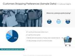 Customers Shopping Preferences Sample Data Customer Insights Graphics PDF