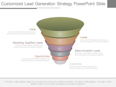 Customized Lead Generation Strategy Powerpoint Slide