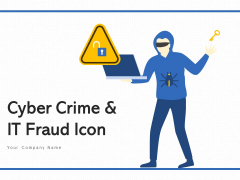 Cyber Crime And IT Fraud Icon Exclamation Ppt PowerPoint Presentation Complete Deck