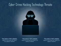 Cyber Crime Hacking Technology Threats Ppt PowerPoint Presentation Layouts Example