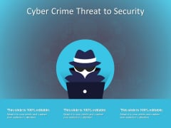 Cyber Crime Threat To Security Ppt PowerPoint Presentation Visual Aids Files