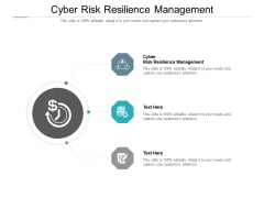 Cyber Risk Resilience Management Ppt PowerPoint Presentation Professional Ideas Cpb Pdf