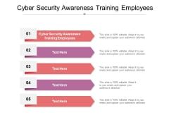 Cyber Security Awareness Training Employees Ppt PowerPoint Presentation Outline Show Cpb
