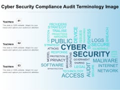 Cyber Security Compliance Audit Terminology Image Ppt PowerPoint Presentation Gallery Background PDF
