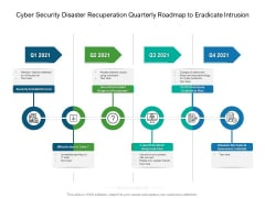 Cyber Security Disaster Recuperation Quarterly Roadmap To Eradicate Intrusion Icons