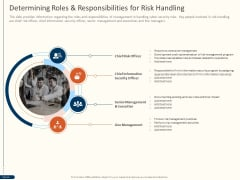 Cyber Security For Your Organization Determining Roles And Responsibilities For Risk Handling Ppt Outline Example PDF