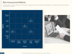 Cyber Security For Your Organization Risk Assessment Matrix Ppt Ideas PDF