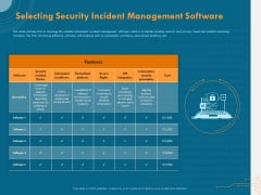 Cyber Security Implementation Framework Selecting Security Incident Management Software Microsoft PDF