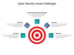 Cyber Security Issues Challenges Ppt PowerPoint Presentation Layouts Layout Cpb Pdf