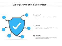 Cyber Security Shield Vector Icon Ppt PowerPoint Presentation File Themes PDF