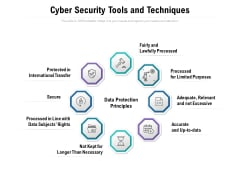 Cyber Security Tools And Techniques Ppt PowerPoint Presentation Styles Vector