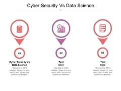 Cyber Security Vs Data Science Ppt PowerPoint Presentation Model Infographics Cpb