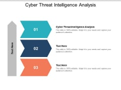 Cyber Threat Intelligence Analysis Ppt PowerPoint Presentation Infographics Example Topics Cpb