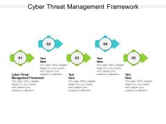 Cyber Threat Management Framework Ppt PowerPoint Presentation Portfolio Graphics Design Cpb Pdf