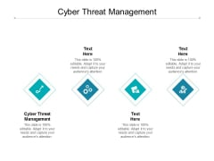 Cyber Threat Management Ppt PowerPoint Presentation Topics Cpb