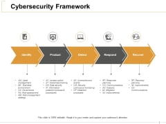 Cybersecurity Framework Ppt PowerPoint Presentation Professional Designs