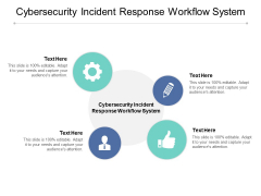 Cybersecurity Incident Response Workflow System Ppt PowerPoint Presentation Gallery Examples Cpb