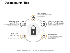 Cybersecurity Tips Ppt PowerPoint Presentation File Outfit