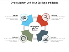 Cycle Diagram With Four Sections And Icons Ppt PowerPoint Presentation Icon Slides PDF