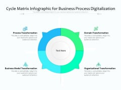 Cycle Matrix Infographic For Business Process Digitalization Ppt PowerPoint Presentation Gallery Images PDF