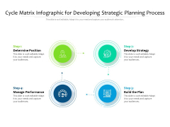 Cycle Matrix Infographic For Developing Strategic Planning Process Ppt PowerPoint Presentation File Microsoft PDF