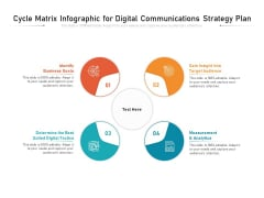 Cycle Matrix Infographic For Digital Communications Strategy Plan Ppt PowerPoint Presentation File Summary PDF