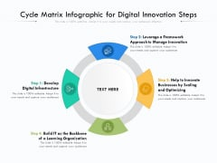 Cycle Matrix Infographic For Digital Innovation Steps Ppt PowerPoint Presentation File Background Image PDF