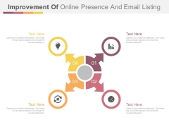 Cycle Of Four Business Steps With Icons Powerpoint Template