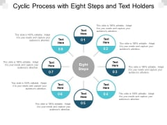 cyclic process with eight steps and text holders ppt powerpoint presentation portfolio design inspiration