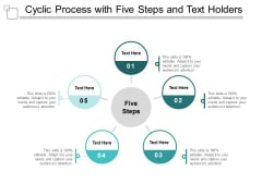 cyclic process with five steps and text holders ppt powerpoint presentation background image