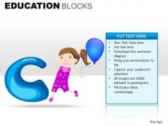 C Learning Alphabets PowerPoint Education Slides