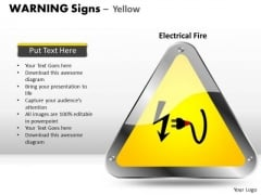 Cable Warning Signs PowerPoint Slides And Ppt Diagram Templates