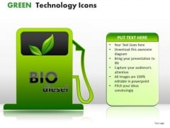 Cables Green Technology Icons PowerPoint Slides And Ppt Diagram Templates